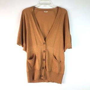 *3/25 Fossil brown button down sweater cardigan